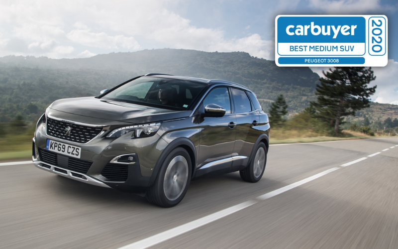 Peugeot 3008 Wins Best Medium SUV Award At The Carbuyer Best Car Awards 2020