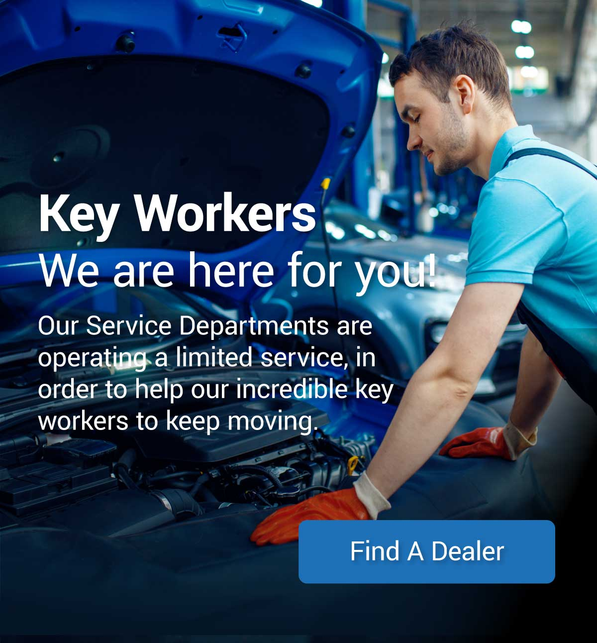 Key Worker Message Banner
