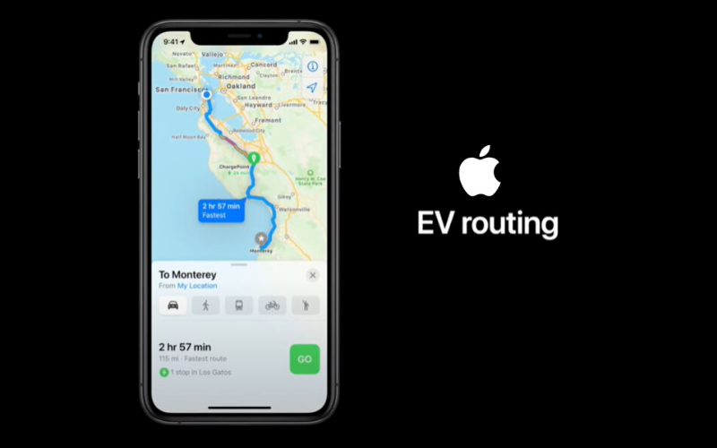 Apple Adds Electric Vehicle Charge Routing To Maps In Upcoming Apple Update