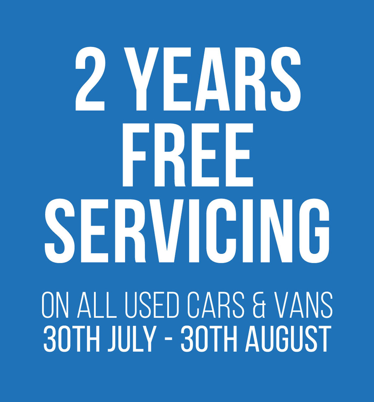 2 years free servicing LP