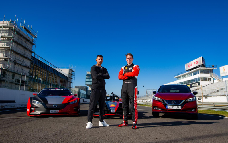 Eden Hazard Swaps the Pitch for a Racetrack to Experience the Power of EVs