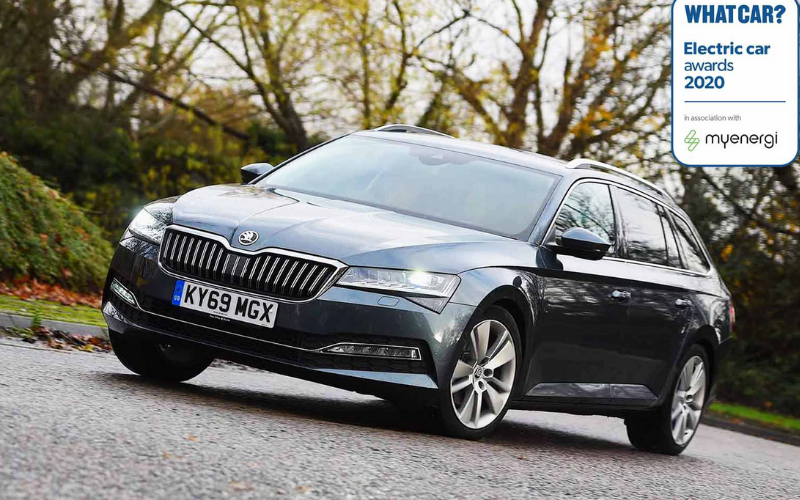 Skoda Superb Estate iV wins best Hybrid Estate Car In The What Car? EV Awards