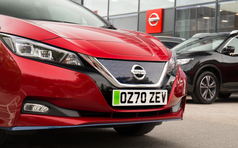 Nissan Dealerships Prepare to Introduce Green Number Plates for EVs