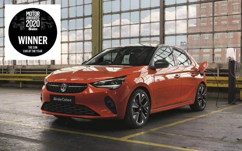 The Vauxhall Corsa-e Has Been Named The Sun Car of the Year 2020