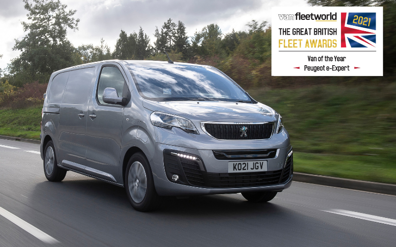 A Double Win for Peugeot at the 2021 Van Fleet World Great British Fleet Awards