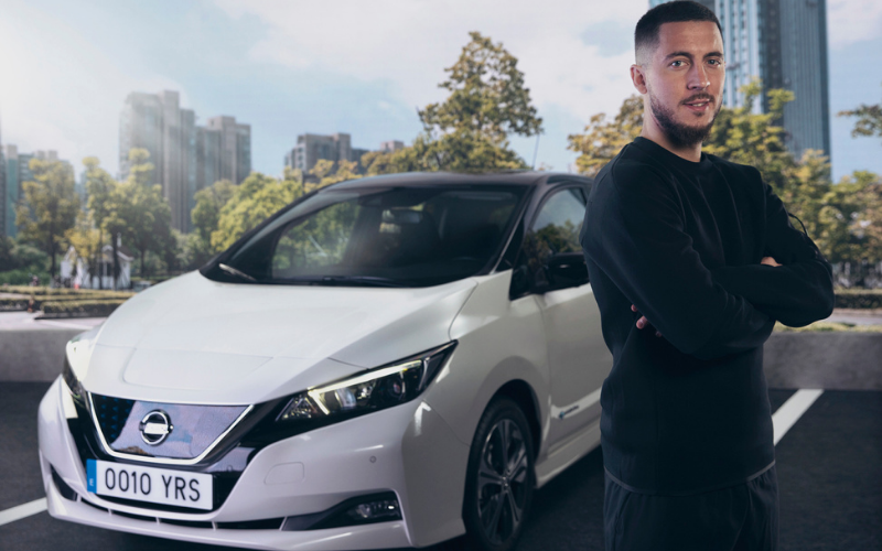 Football Pro, Eden Hazard Joins Nissan�s #ElectrifyTheWorld Movement