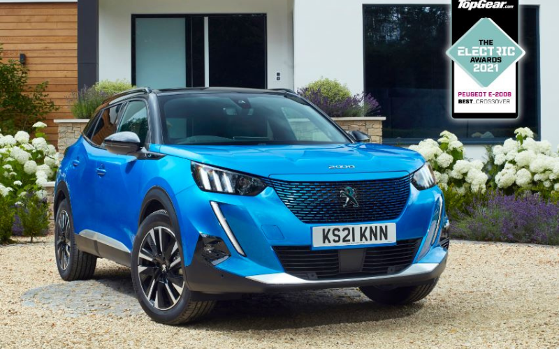 PEUGEOT e-2008 Crowned 'Best Crossover' At The TopGear Electric Awards 2021