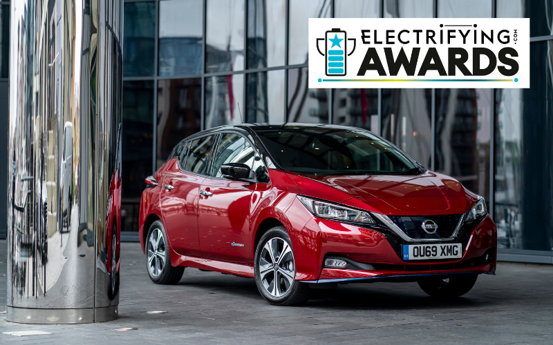 Nissan LEAF Titled 'Best Used Electric Car' in Electrifying.com Awards 2021