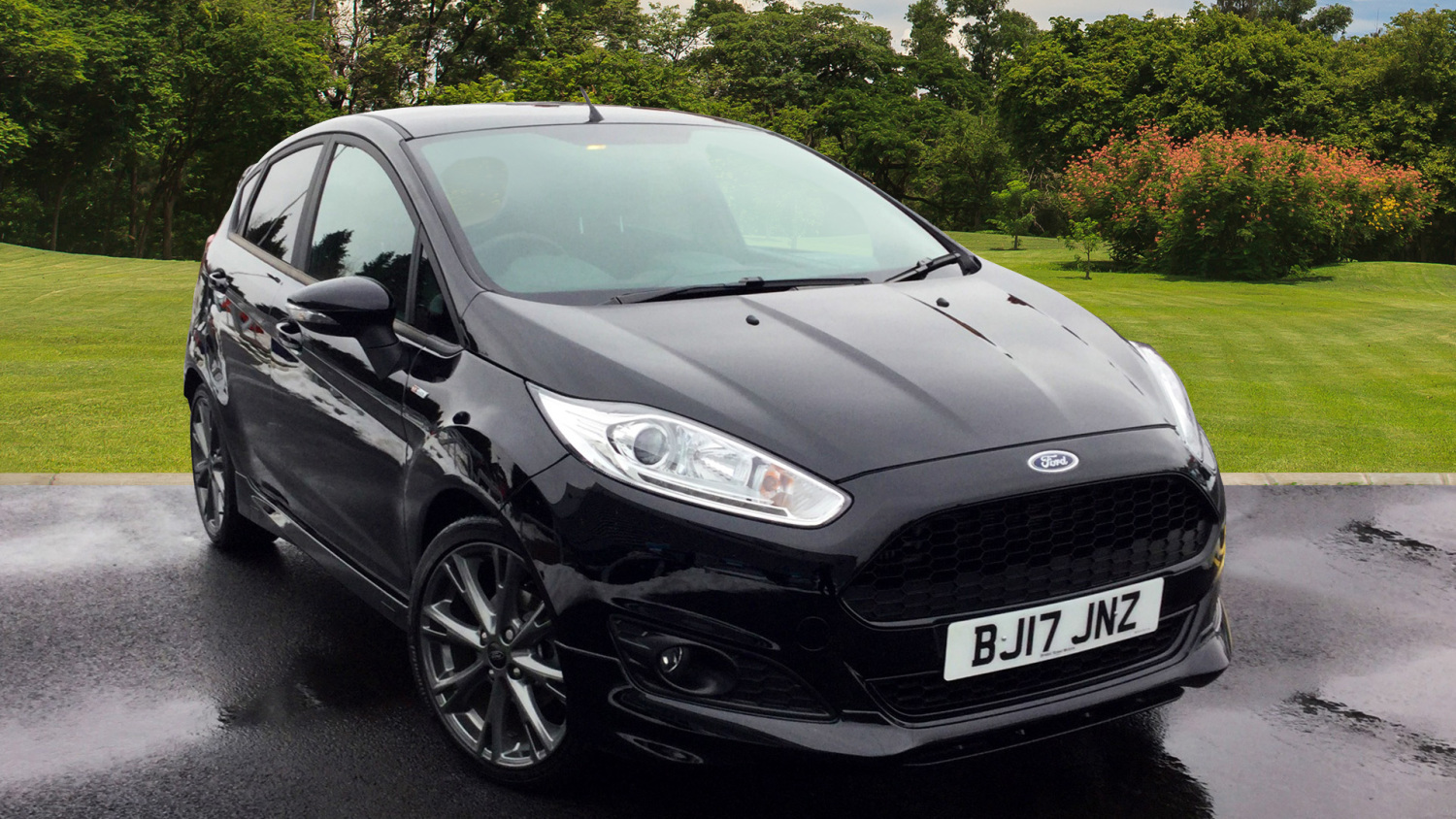 used ford fiesta 1 0 ecoboost st line 5dr petrol hatchback. Black Bedroom Furniture Sets. Home Design Ideas