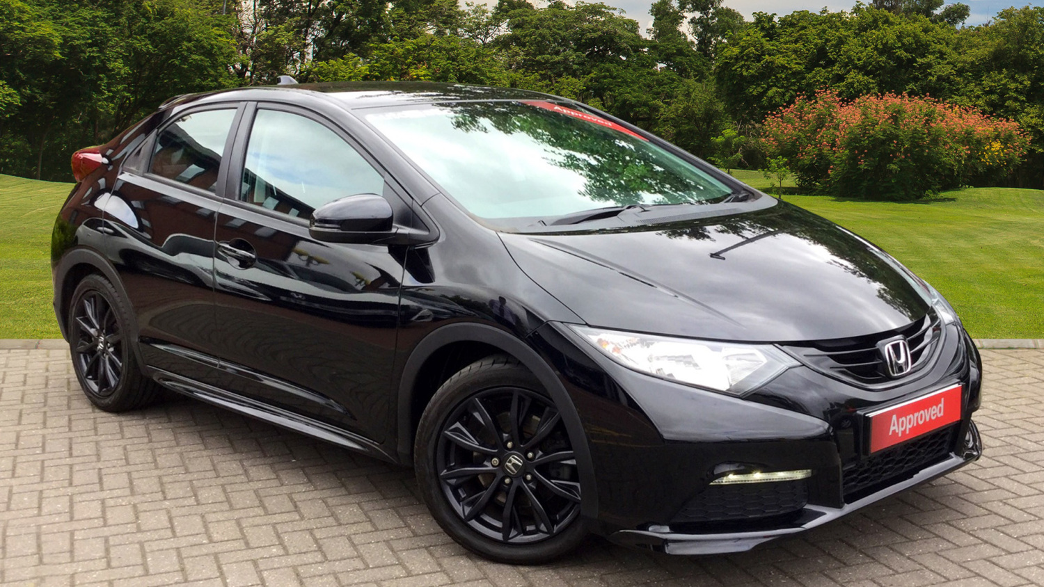 used honda civic 1 8 i vtec black edition 5dr auto petrol. Black Bedroom Furniture Sets. Home Design Ideas