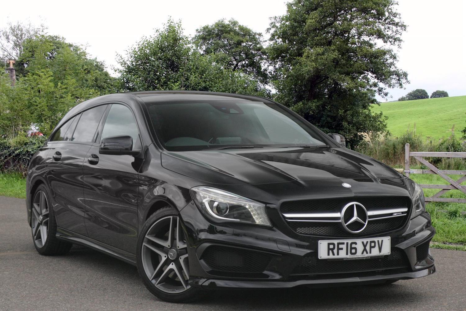 used mercedes amg cla cla 45 381 4matic 5dr tip auto petrol estate for sale bristol street. Black Bedroom Furniture Sets. Home Design Ideas
