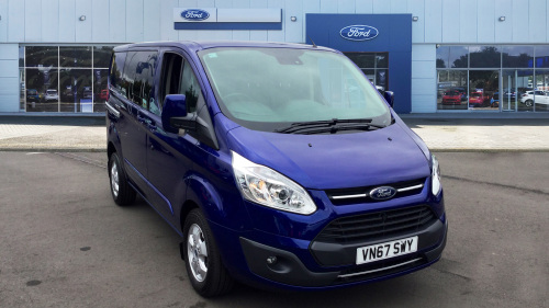 Ford Transit Custom 310 Swb Diesel Fwd 2.0 Tdci 130Ps Low Roof D/Cab Limited Van