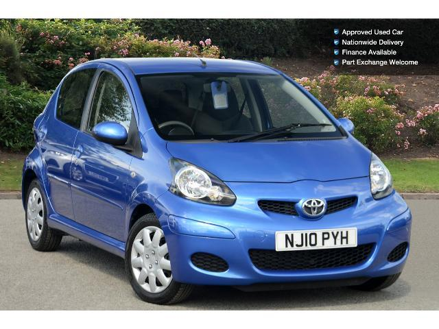 used toyota aygo 1 0 vvt i blue 5dr petrol hatchback for. Black Bedroom Furniture Sets. Home Design Ideas